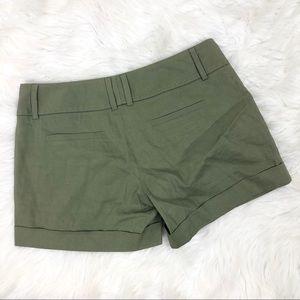 Elie Tahari Shorts - Elie Tahari Cuffed Olive Green Shorts Size 6